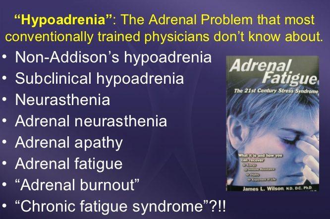 hypoadrenia,sub-clinical hypoadrenia, neurasthenia, adrenal neurasthenia,