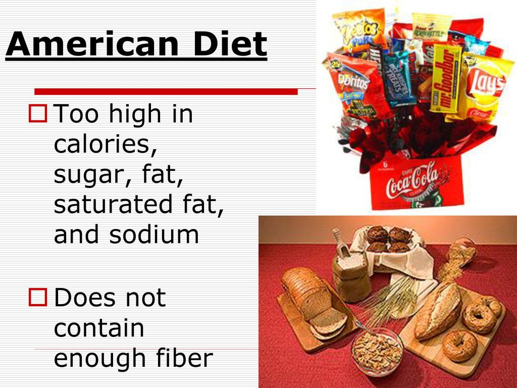 American diet is full of sugar and fat
