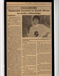 in news paper about tonkovich