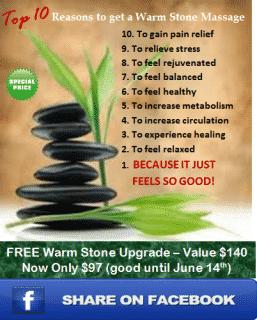 Reasons To Get Warm Stone Massage
