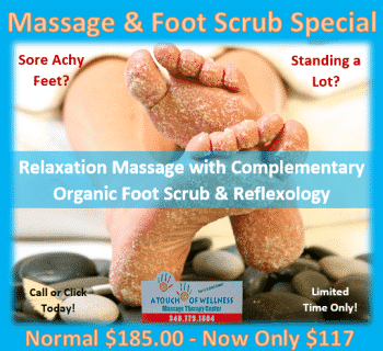 Massage and Foot Scrub Special