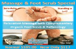 Massage & Foot Scrub special